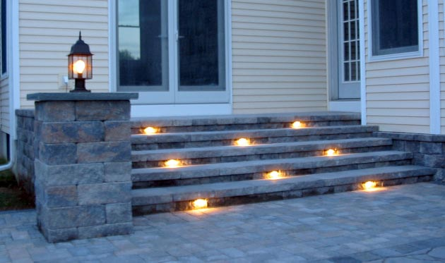 Step Construction with Lighting