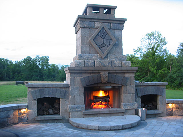 Outdoor Fireplace Photo
